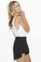 One Teaspoon Pixie High Waist Short In Black White Polka Dot - Lyst