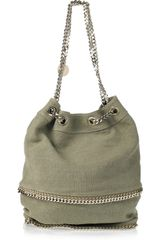 Stella McCartney Falabella Canvas Bucket Bag - Lyst