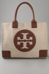 Tory Burch Metallic Canvas Ella Tote - Lyst