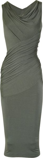 Donna Karan New York Twisted Stretch-jersey Dress - Lyst