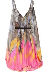 Matthew Williamson Printed Silk-chiffon Parachute-silk Dress - Lyst
