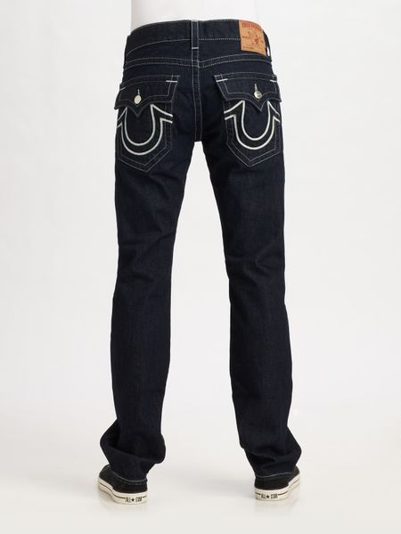 True Religion Ricky Relaxed Staight-leg Jeans in Black for ...