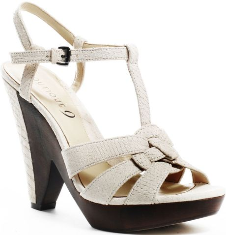 Boutique 9 Uziri Heel  Med Natural in Beige (natural) - Lyst