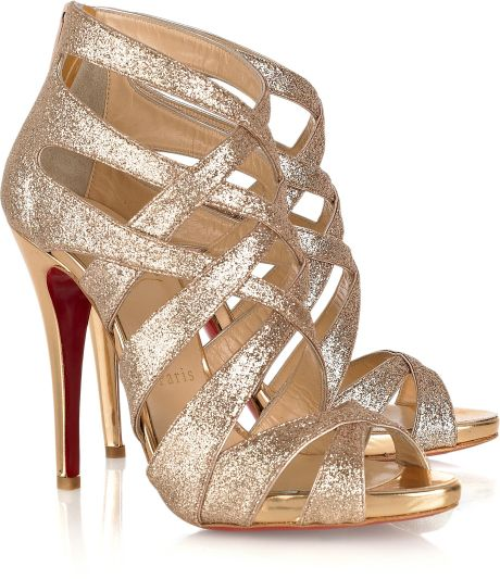 Christian Louboutin Balota 120 Glittered Multi-strap Sandals in Multicolor (multi) - Lyst