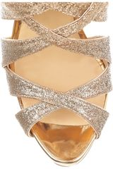 Christian Louboutin Balota 120 Glittered Multistrap Sandals in Multicolor (multi) - Lyst