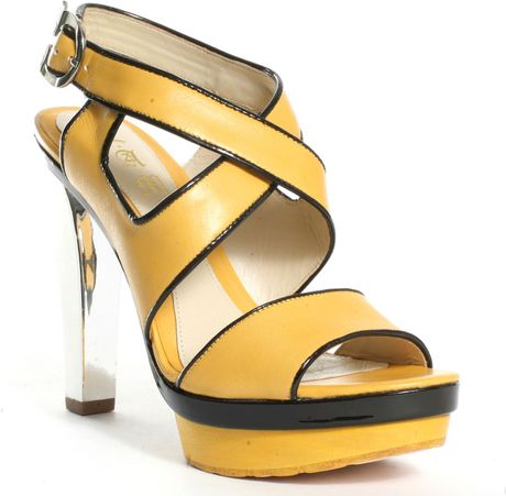L.a.m.b. Gypsy Heel  Yellow in Yellow - Lyst