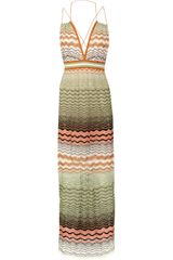 M Missoni Zigzag Crochet-knit Maxi Dress - Lyst