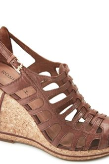 Rosegold Cynthia - Cognac Leather Wedge Sandal - Lyst