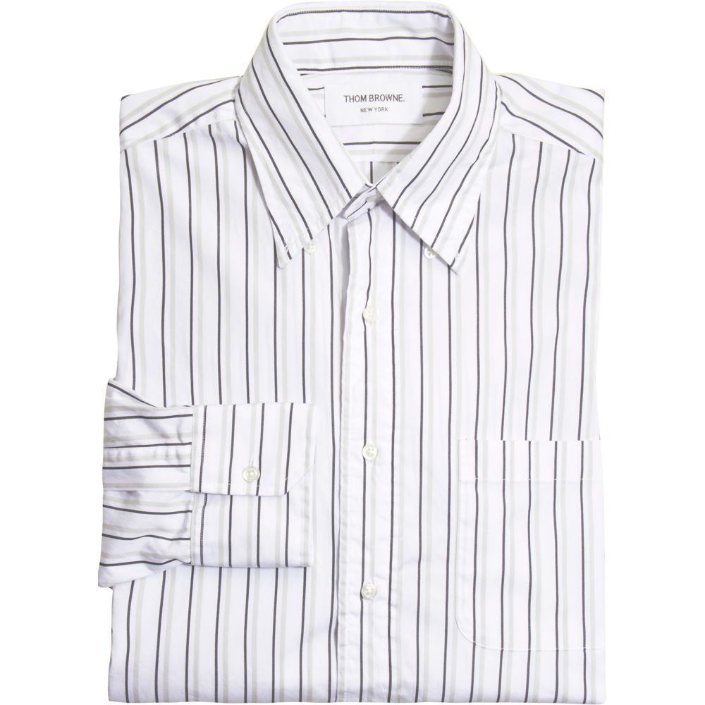 Lyst - Thom browne Thin Striped Sport Shirt in Black for Men
