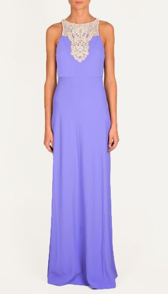 Tibi Anick Beading Long Dress in Purple (Concord) - Lyst