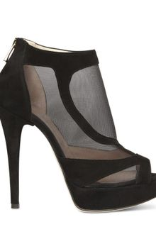 Chiara Ferragni 140mm Mesh and Suede Sandals - Lyst