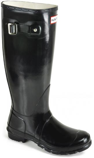 Hunter Hunter Original Tall Gloss Rain Boots in Black ...