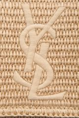 Yves Saint Laurent Raffia Belle Du Jour Clutch in Beige (natural) - Lyst