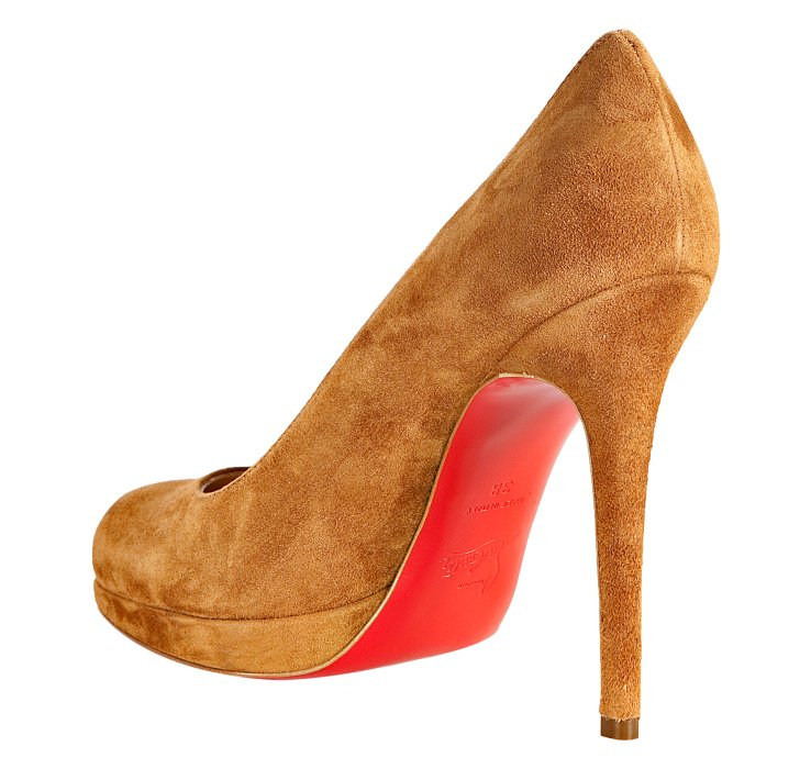 cheap louis vuitton mens shoes - christian louboutin round-toe platform pumps Orange suede ...