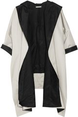 Diane Von Furstenberg Athena Draped Cotton-twill Coat - Lyst