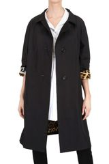 Yves Saint Laurent Leopard Lining Nylon Coat - Lyst