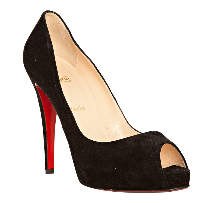 christian louboutin very prive black suede