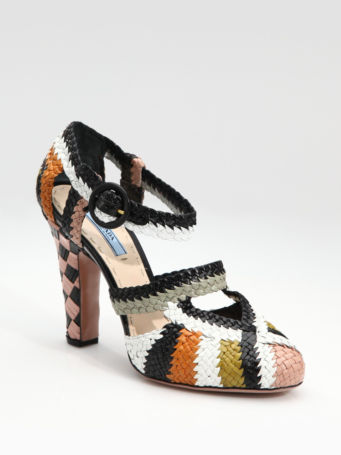 Prada Woven Embellished Pumps collections cheap sale for cheap fake for sale visa payment low shipping fee online 93D1c