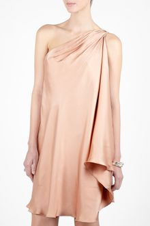 Halston Heritage Dress on Halston Heritage Swing Asymmetric Cocktail Dress In Beige  Sand
