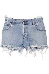 Ksubi Mid-rise Raw-edged Rigid-denim Shorts