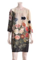 Stella Mccartney Botanical Dress in Beige (cream) - Lyst