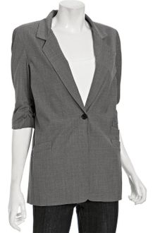 Elizabeth And James Charcoal Wool James Triple Pocket Blazer - Lyst