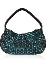Sonia Rykiel Crystal-embellished Faux-leather Bag - Lyst