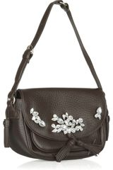 Sonia Rykiel Crystalembellished Leather Bag in Gray - Lyst