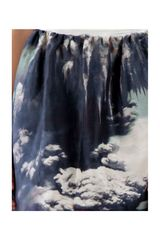 Carven Volcano Print Skirt in Blue (marine) - Lyst