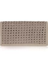 Stella McCartney Alexa Woven Faux-leather Clutch - Lyst