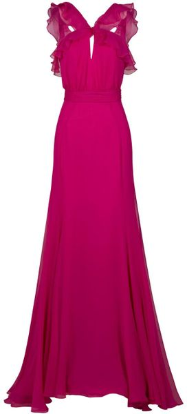 Jason Wu Ruffle Loop Front Gown in Pink - Lyst