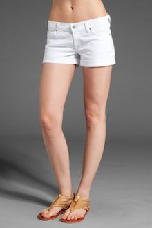 7 For All Mankind Roll Up Short - Lyst