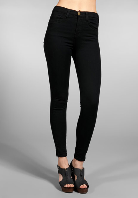 High Waisted Black Skinny Jeans
