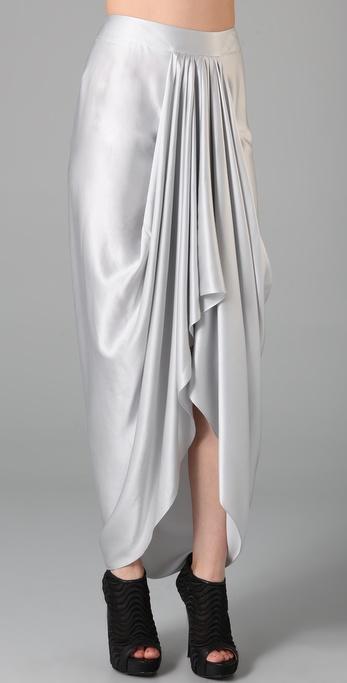 Lyst L A M B Draped Long Skirt In White