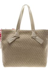 Lanvin Woven Jute Beach Bag with Handembellishment in Beige (natural) - Lyst