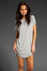 T By Alexander Wang Boatneck Dress Mini Poc - Lyst