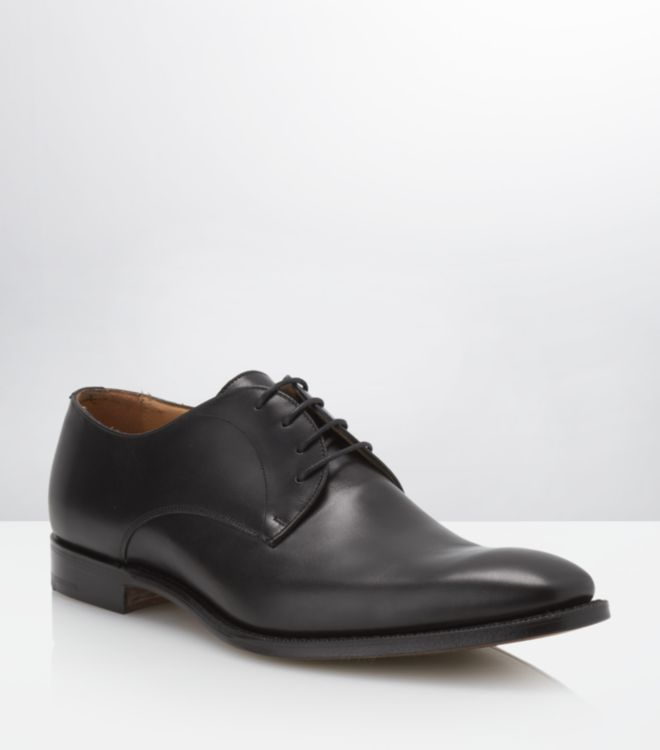 church s sawley black leather shoe in black for lyst