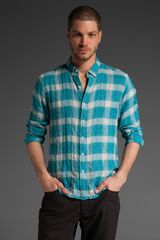 Converse Long Sleeve Plaid Button Down - Lyst