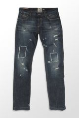 D&G Distressed Straight Leg Jean - Lyst