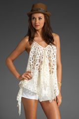 Free People Battenberg Lace Convertible Halter Top - Lyst