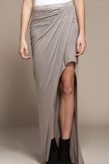 Helmut Lang Long Skirt in Terra - Lyst