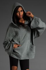 T By Alexander Wang French Rib Batting Hoodie - Lyst