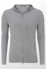 Vince Zip-through Thermal Cardigan - Lyst