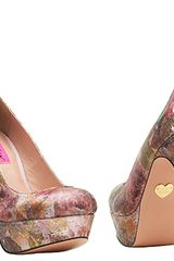 Betsey Johnson Dita  Multicolored Leather Platform Pump in Multicolor (multi) - Lyst