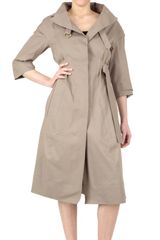 Nina Ricci Cotton Double Face Trench Coat - Lyst