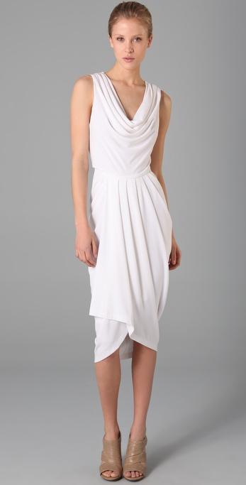 Lyst Rachel Roy Drape Dress In White
