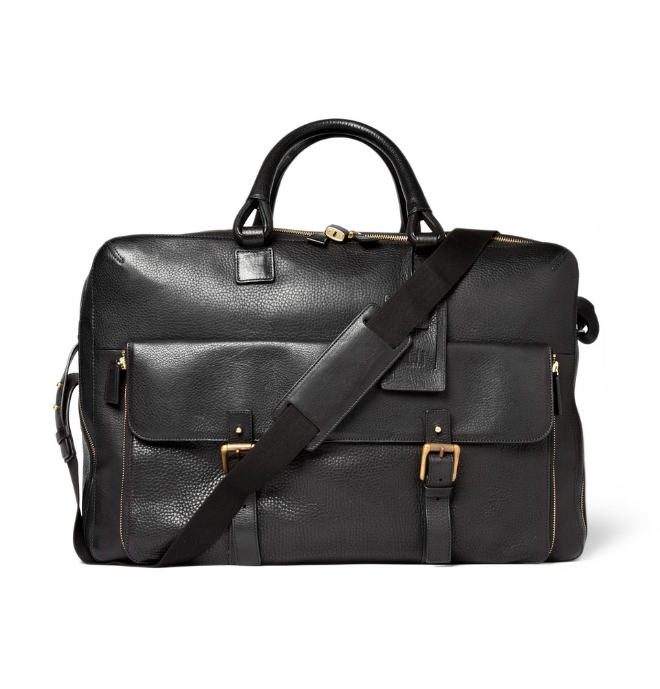 Dunhill Bladon Leather Holdall Travel Bag in Black for Men - Lyst