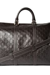 Gucci Embossed Weekend Bag