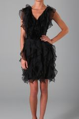 Notte By Marchesa Silk Organza Ruffle Dress - Lyst