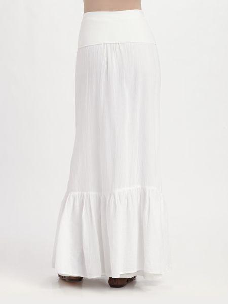 splendid linen maxi skirt dress in white lyst